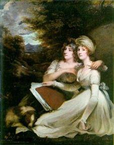 The Frankland Sisters, by John Hoppner,1795
