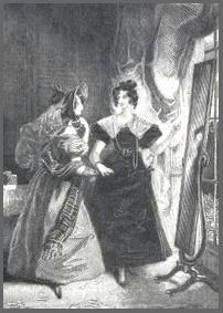 Illustration by Pickering, Mansfield Park, Fronitispiece(1882)