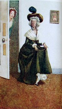 Mrs. Ferrars, Illustration by A. Wallis Mills, from Sense & Sensibility, 1908