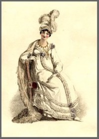 Illustration of an Evening Dress from Ackermann's Repository of 1817