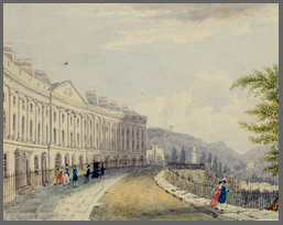 "Watercolour by Jane Hartshorne, ""Camden Place, Bath"" 1829"