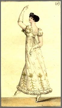 Illustration of costume Parisien, plate 11, The Journal des Dames et Desmodes(1808)