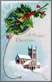 Illustration of vintage Christmascard