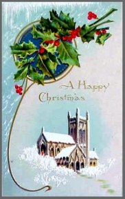 Illustration of vintage Christmas card