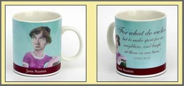 Image of Jane Austen coffee mug