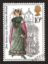 Illustration by Barbara Brown, Catherine Morland, Bicentenary Stamp (1975)