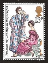 Illustration by Barbara Brown, Mary & Henry Crawford, Bicentenary Stamp (1975)