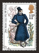 Image of Mr. Darcy, British Commemorative Stamp, (1975)