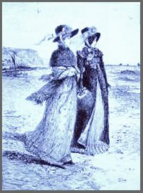 Illustration by William C. Cooke, Anne Elliot & Henrietta Musgrove, Persuasion,(1892)