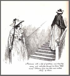 "Illustration by Chris Hammond, ""Marianne…walked slowly upstairs"", Sense & Sensibility, Chapter 46,(1899)"