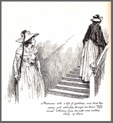 "Illustration by Chris Hammond, ""Marianne…walked slowly upstairs"", Sense & Sensibility, Chapter 46, (1899)"