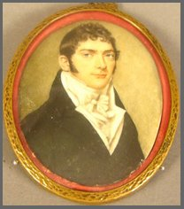 Image of miniature portrait of a young man by Thomas Heaphy (1785-1835) of London circa1815
