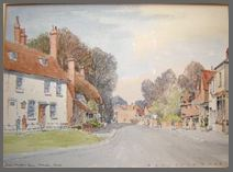 Image of a watercolour painting of Chawton Cottage