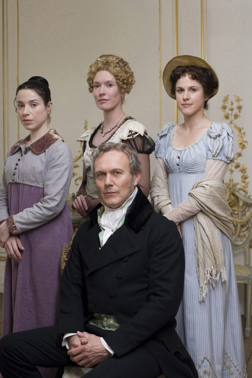 Anthony Head as Sir Walter Elliot and his daughters in Persuasion (2007)