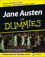 Image of cover of Jane Austen for Dummies, (2006)
