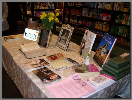 """Image of Jane Austen display at event """"An Evening with Jane""""(2008)"""