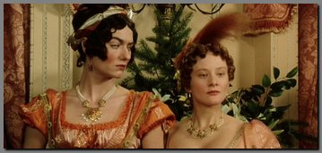 Image of Caroline Bingley and Louisa Hurst, Netherfield Ball, Pride & Prejudice, (1995)