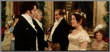 Image of Lizzy & Mr. Darcy sparing at Netherfield Ball, Pride & Prejudice, (1995)