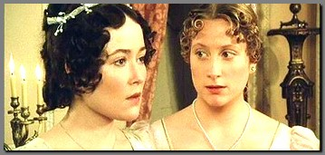 Image of Lizzy & Jane Bennet mortified at the Netherfield Ball, Pride & Prejudice, (1995)