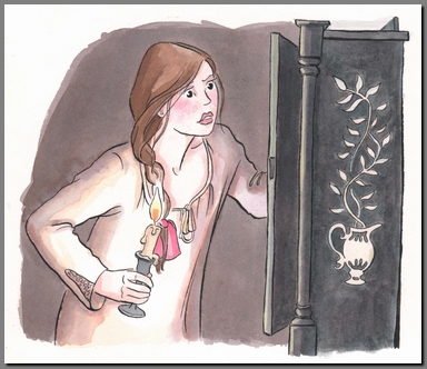 Illustration by Ann Kronheimer, Northanger Abbey, Real Reads, (2008)