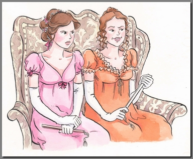 Illustration by Ann Kronheimer, Pride & Prejudice, Real Reads, (2008)