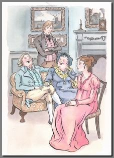 Illustration by Ann Kronheimer, Sense & Sensibility, Real Reads, (2008)