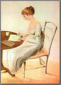 Image of watercolor painting of Fanny Knight, by CassandraAusten