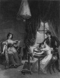 Image of steel engraving frontispiece by William Greatbatch after George Pickering, Emma,(1833)