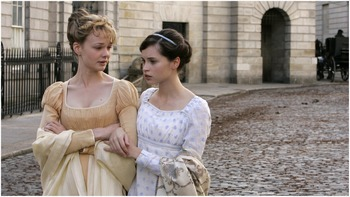 Image of Carey Mulligan as Isabella Thorpe & Felicity Jones as Catherine Morland, Northanger Abbey, (2007)