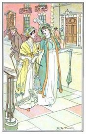 Illustration by H.M. Brock, Northanger Abbey (1897)