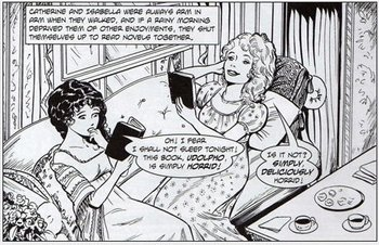 Illustration by Trina Robbins & Anne Timmons, Gothic Classic Vol 14, (2007)