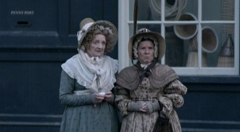 Image of Mrs. Forrester (Julia McKenzie) and Miss Pole (Imelda Staunton), Cranford (2007)