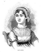 Illustration of Jane Austen after the frontispiece in A Memoir of Jane Austen (1871)
