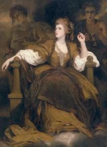 Image of the painting Mrs. Siddons as the Tragic Muse, by Joshua Reynolds, (1784)