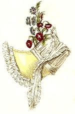 Image of a bonnet from Ackermann\'s Repository, (1817)