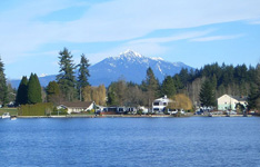 Image of Lake Stevens with Mt. Pilchuck in the distance (2008)