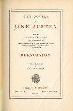 Image of the title page of Persuasion, by Jane Austen, Frank S. Holby, (1906)