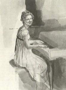 Illustration of Elizabeth Bennet, by Isabel Bishop, Pride and Prejudice, Dutton (1976)