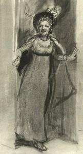 Illustration of Kitty Wickham, by Isabel Bishop, Pride and Prejudice, Dutton (1976)