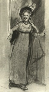 Illustration of Kitty Wickham, by Isabel Bishop, Pride and Prejudice, Dutton (1976)