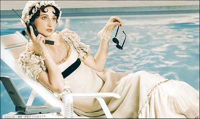 Jane Austen poolside in Hollywood, on teh phone with her agent