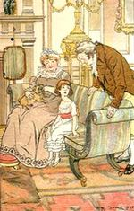 Illustration by H.M. Brock, Mansfield Park Ch 2 (1898)