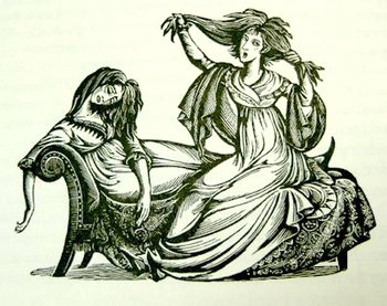 Illustration by Joan Hassall, Love and Freindship, The Folio Society (1973)