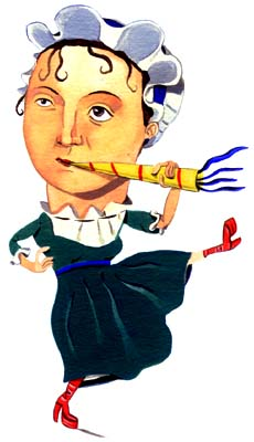 Illustration of Jane Austen by Amanda Duffy