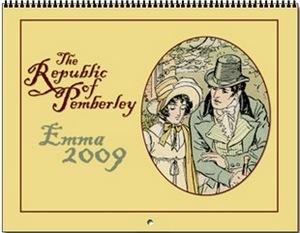 The Republic of Pemberley Brock Wall Calendar 2009