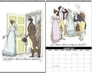 Elizabeth and Mr. Darcy 2009 Wall Calemdar from Love Pride and Prejudice Shoppe