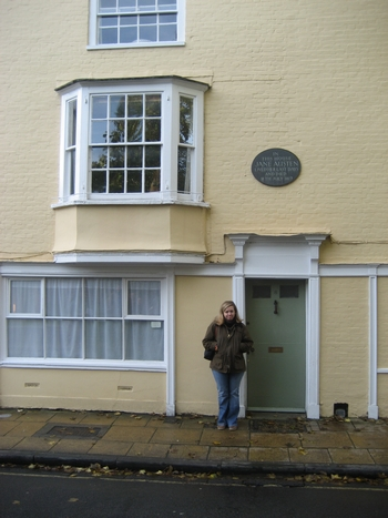 Virginia Claire Tharrington at College Street home of Jane Austen, Winchester (2008)