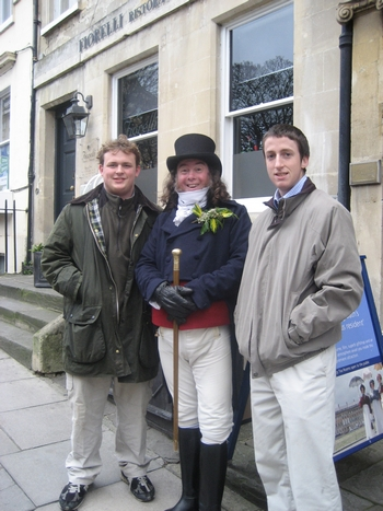Buck, Martin & Matt at the Jane Austen Centre, Bath (2008)