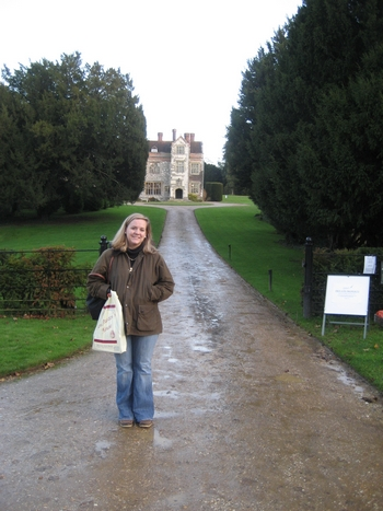 Virginia Claire Tharrington in front of Chawton Manor House (2008)