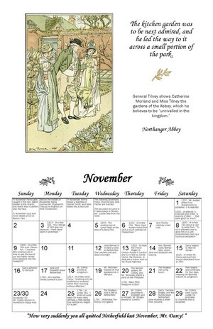 The Wisconsin Region Chapter of JASNA A Year with Jane Austen Wall Calendar 2009